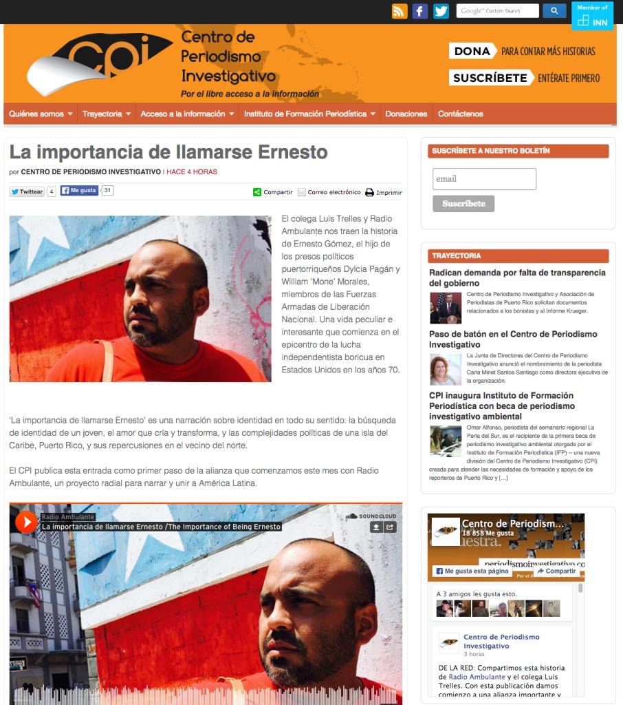 CPI Ernesto Gomez
