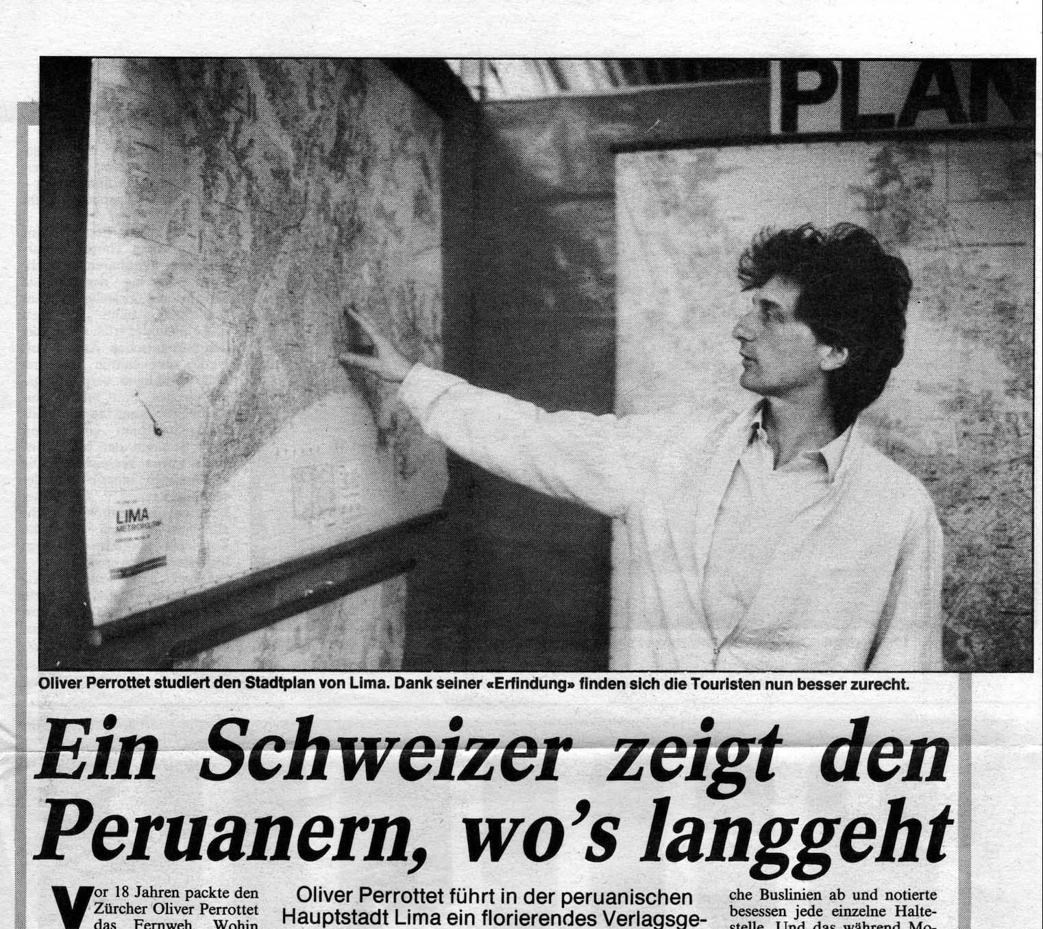 Recorte de prensa de Sonntagsblick (1988)