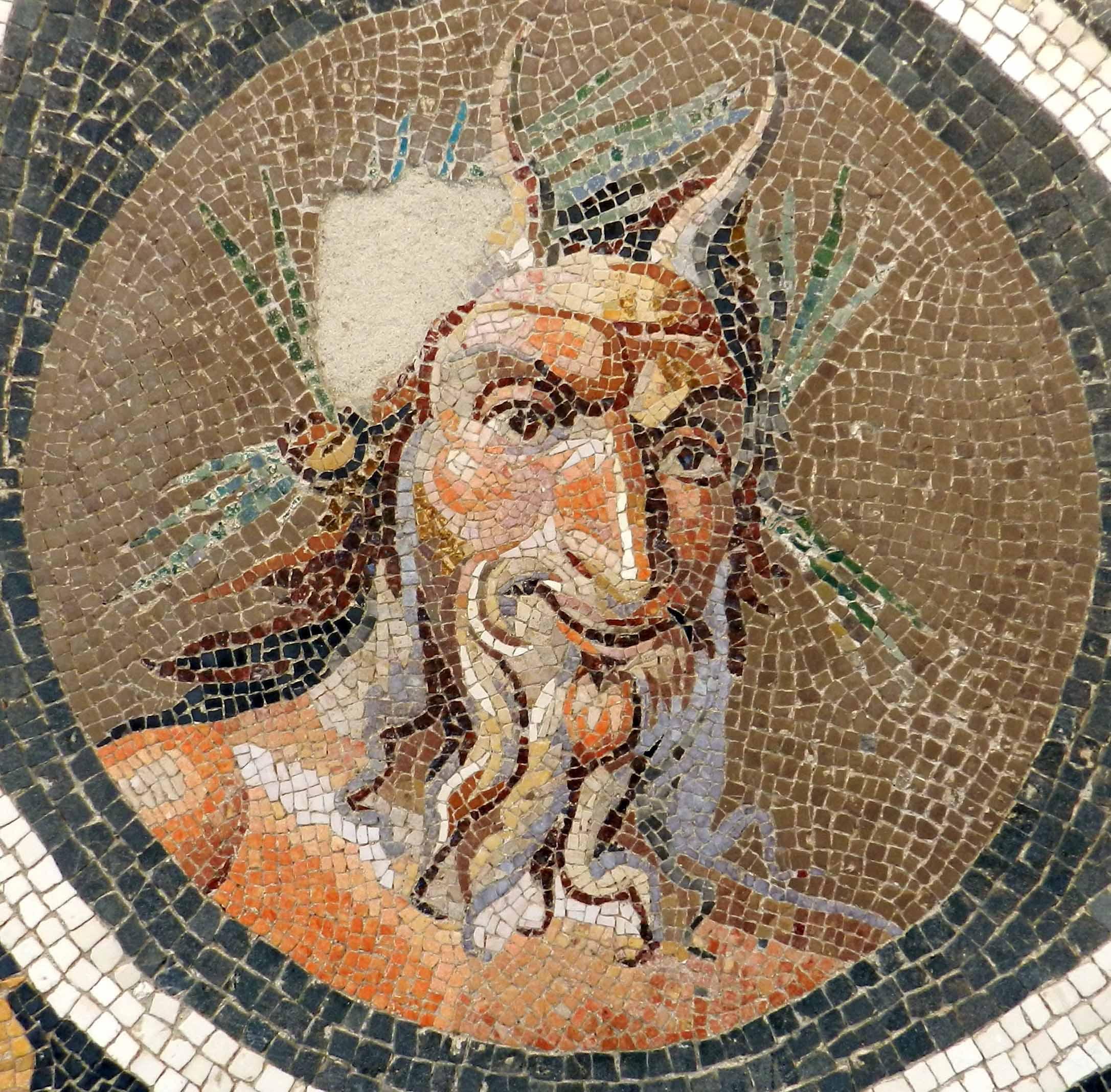 Mosaico del dios griego Pan