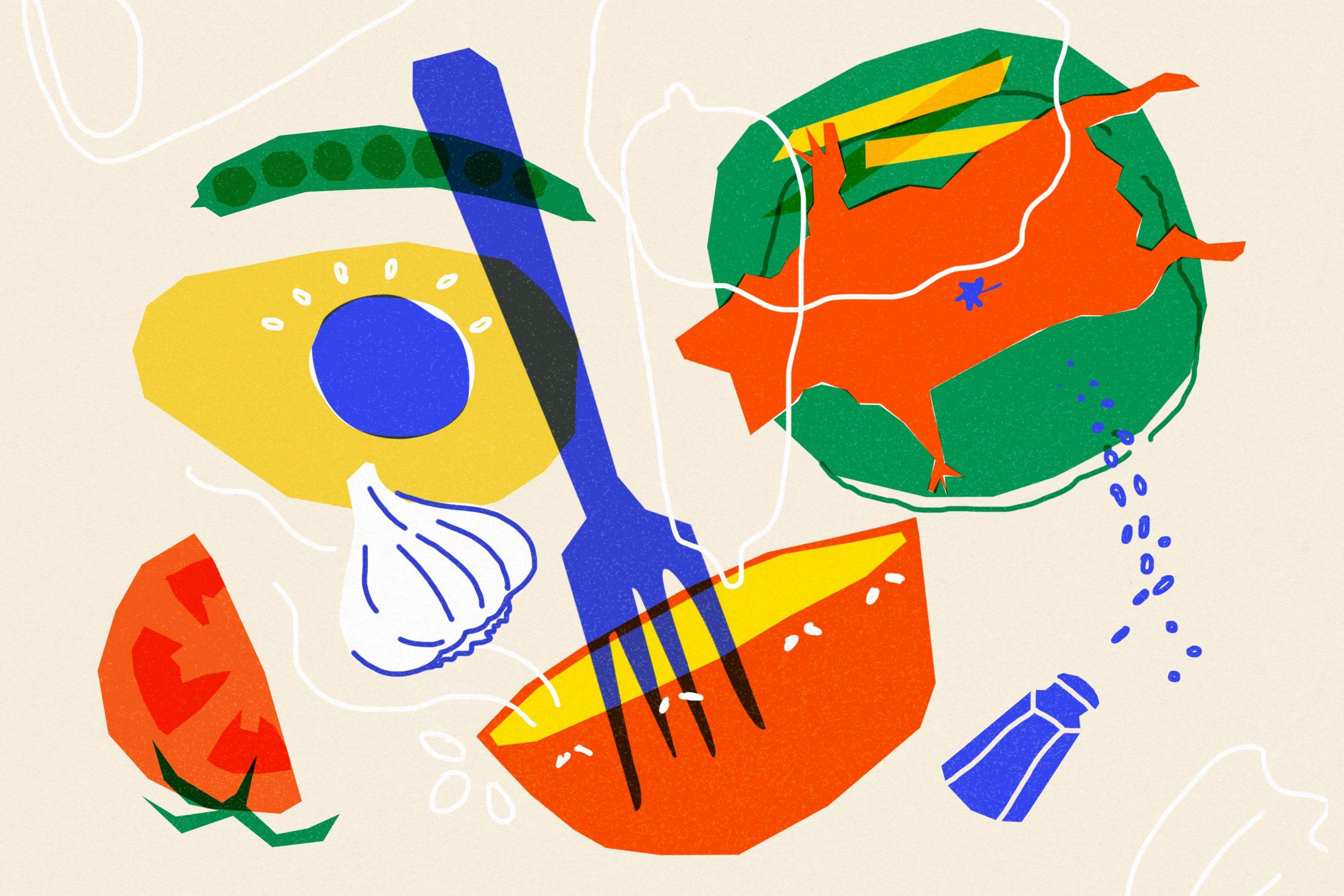 Ilustración de Laura Pérez para Cuy al ajillo, episodio 2 de la temporada 11 de Radio Ambulante